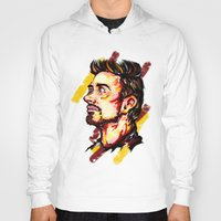 tony stark Hoodies featuring Tony Stark by AlysIndigo