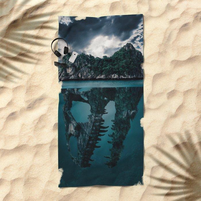 Mysterious Ocean Beach Towel