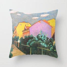 Summer Sunset In Berlin Throw Pillow