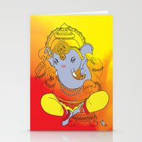 ganesh Stationery Cards featuring Ganesh  by xDiNKix