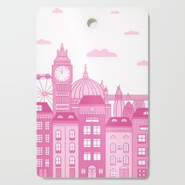 London Skyline Pink Cutting Board