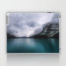 Landscape Photography Maligne Lake Mountain View   Turquoise Water   Alberta Canada Laptop & iPad Skin