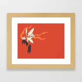 Mega Blaziken PKMN Framed Art Print