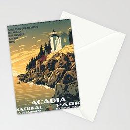 Vintage poster - Acadia National Park Stationery Cards