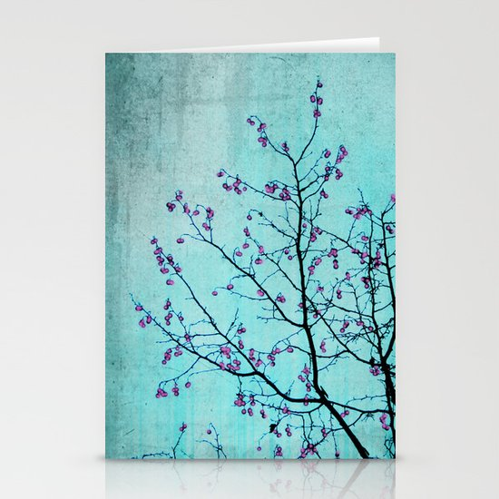 pink berries Stationery Cards