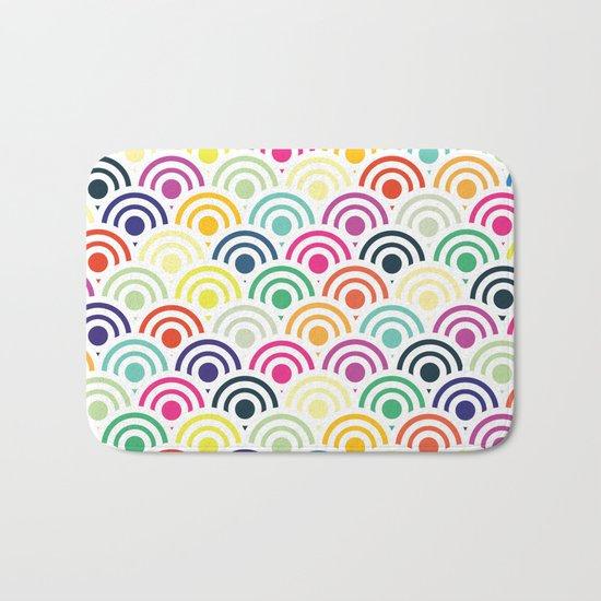 Colorful Circles II Bath Mat