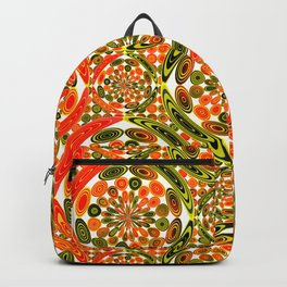 Colorful geometric abstract Backpack
