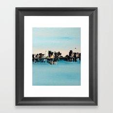 une ville ailleurs Framed Art Print