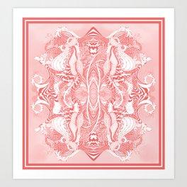 Garden 5 blush Art Print