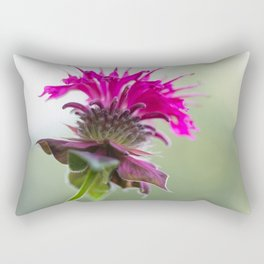 Pink Bee Balm Flower 3 Rectangular Pillow