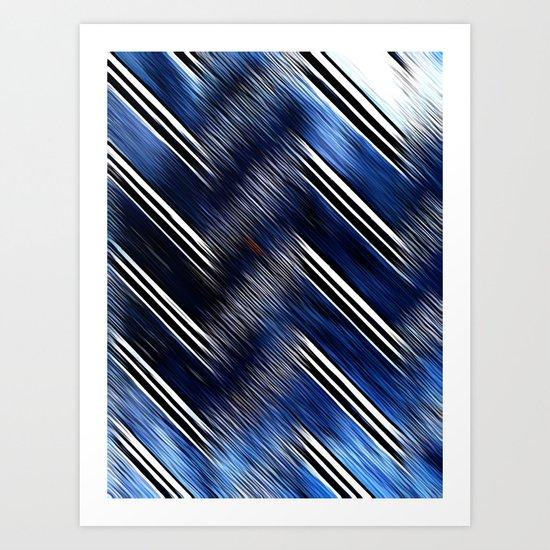 Abstract #Blue #Black #3 #art #society6 Art Print