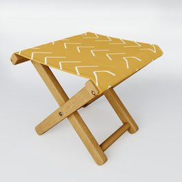 V / Yellow Folding Stool