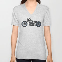 custom motorcycle Unisex V-Neck