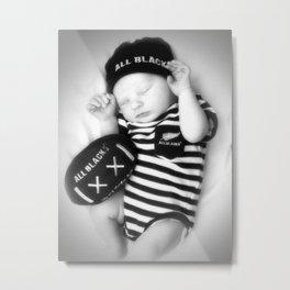 The Littlest AllBlack Metal Print