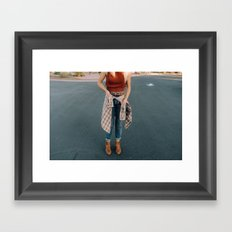 flannel and boots Framed Art Print