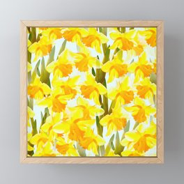 Spring Breeze With Yellow Flowers #decor #society6 #buyart Framed Mini Art Print