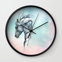 Aqua horse Wall Clock