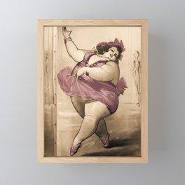 Circus Fat Lady BBW Ballet Dancer Framed Mini Art Print