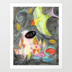 Hello Bird No. 3 Art Print