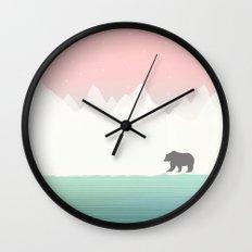 Bear in Winter Wall Clock
