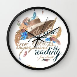Jane Austen - No Enjoyment Like Reading Wall Clock