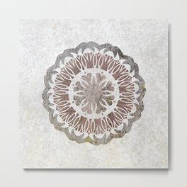 Shared love mandala Metal Print
