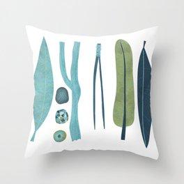 Sticks and Stones Illustration Throw Pillow
