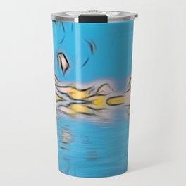 Digital Blue Art Design Travel Mug