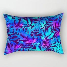 Mystic watercolor  blue tropic leaves Rectangular Pillow