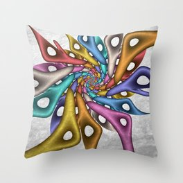 strange forms - a fractal design Throw Pillow