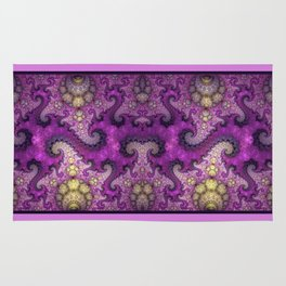 Dragon spirals and orbs in pink, purple and yellow Rug