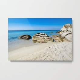 Beautiful beach at the Mediterranean Sea Metal Print