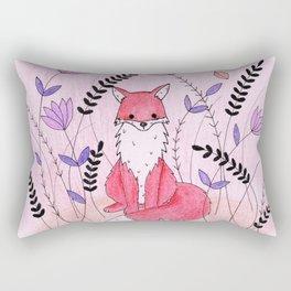 Beautiful Fox in the Garden Rectangular Pillow