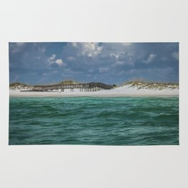 Boardwalk At Shell Island  Rug