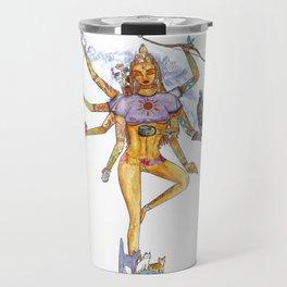Modern Goddess Tools - Sexy Eight Armed Blonde Travel Mug