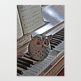 the pianos Owl HDR Canvas Print