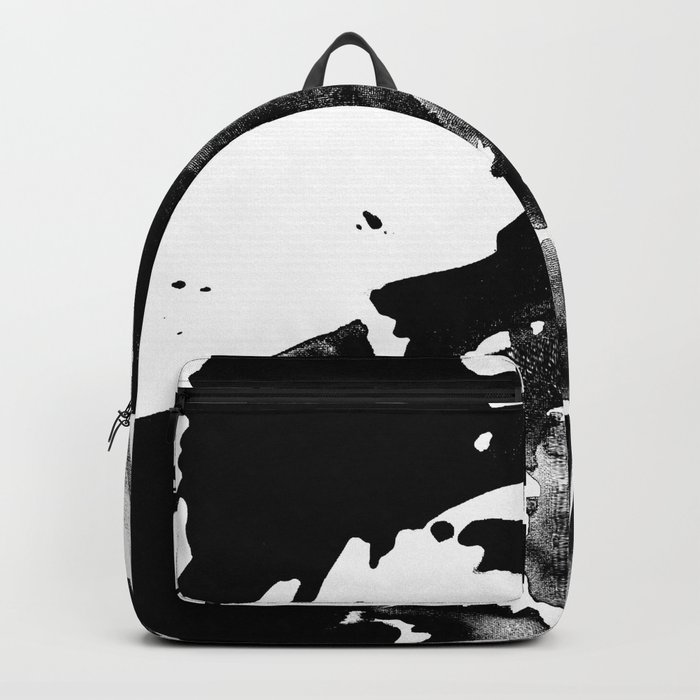 Drilling for that black gold in our oceans, black wave Backpack
