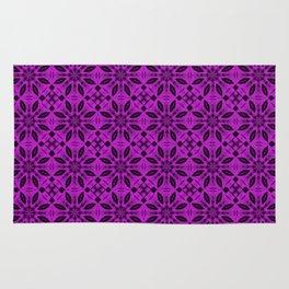 Dazzling Violet Floral Pattern Rug