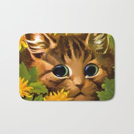"Louis Wain's Cats ""Tabby in the Marigolds"" Bath Mat"