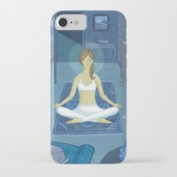 meditation iPhone & iPod Cases featuring Meditation by Anne Was Here