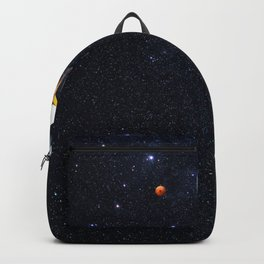 Relaxing thoughts. Backpack