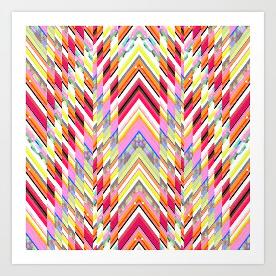 Technicolor Southwest Chevron Art Print