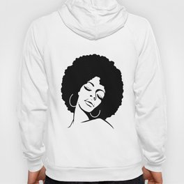 Afro Diva Black Girl Magic Shirt Gold Lips Natural Melanin wife mom Hoody