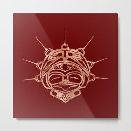 Copper Frog Blood Metal Print