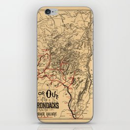 Map Of The Adirondacks 1890 iPhone Skin