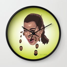 """Kryeezy"" by Lex Lumens Wall Clock"