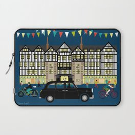 Art Print of Liberty of London Store - Night with Black Cab Laptop Sleeve