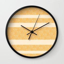 Marbled Pattern (sunglow yellow) Wall Clock