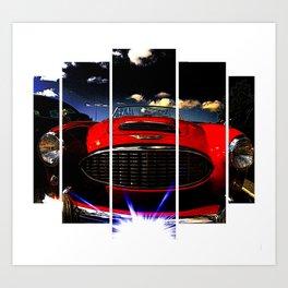 Red, hot & beautiful Art Print