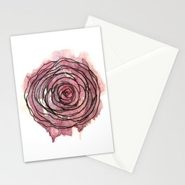 english pen rose Stationery Cards